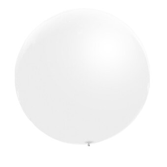 Harga 3pcs 36inch Large Giant Circular Latex Balloon White