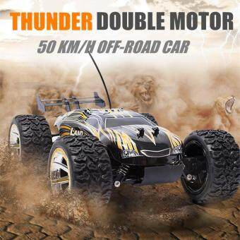 Harga Thunder RC Vehicles Double Motor 4WD Car Remote Control Cars Play Vehicles 6515-1 (Golden)