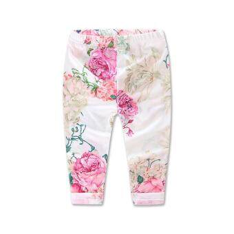 Ins 2016 froral girl Spring clothes t-shirt+Pants +headwear 3 pcspattern set of clothes newborn baby suit children clothing set - 4