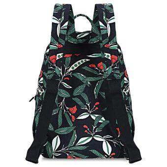 Insular Waterproof Printed Maternity Backpack Baby Diaper Bag withTrailer Straps - 2