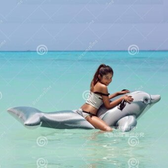 INTEX Water Animal swimming ring silver dolphin inflatable Horse Toys adult children's swimming seat