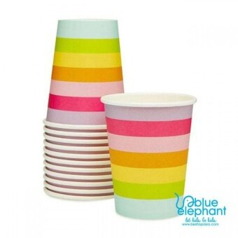 Harga Jayden & Co Rainbow Stripe Paper Cup