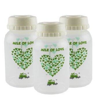 Jingle Jungle Breastmilk Storage Bottle 3pack (Hearts) - 2