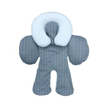 JJ Cole Baby Head and Body Support Pillow - Grey