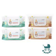K-MOM Natural Pureness Premium Baby Wet Wipes 100pcs x 4packs