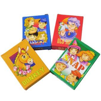 Harga Kid's Classic Card Games Collection (Donkey / Snap / Old Maid / Happy Family) 2 Sets of Each Game