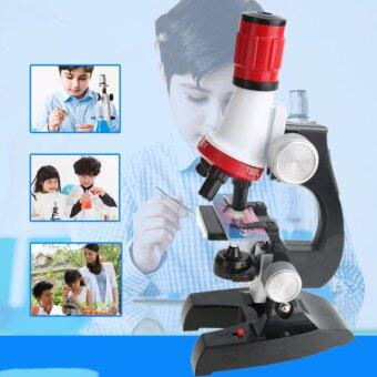 Harga Kids Educational 100-1200X Microscope Kit Science Toy