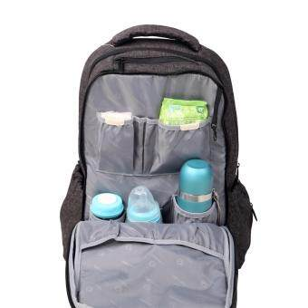 sell lekebaby diaper bag backpack with stroller straps super large capacity for dad mom black. Black Bedroom Furniture Sets. Home Design Ideas