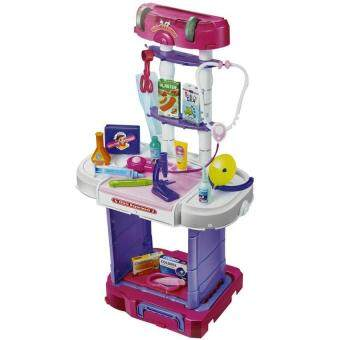 Harga Little Doctor Pretend PlaySet With travel Luggage Trolley