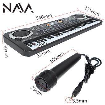 Harga NaVa 61 Key Children Educational Multifunction Electronic KeyboardPiano with Microphone 6106
