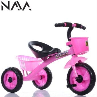 Harga NaVa Children Tricycle with Front & Rear Basket (PINK)
