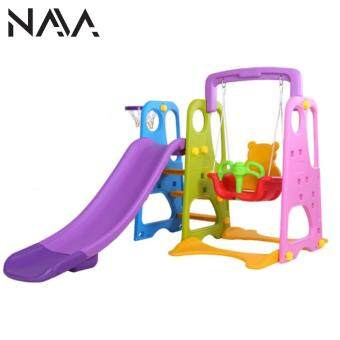 NaVa DIY Children Slide and Swing with Basketball net for Indoor and Outdoor