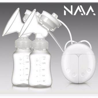 Harga NaVa Double USB Electric Chargeable Breast Pump with Bottles FullSet
