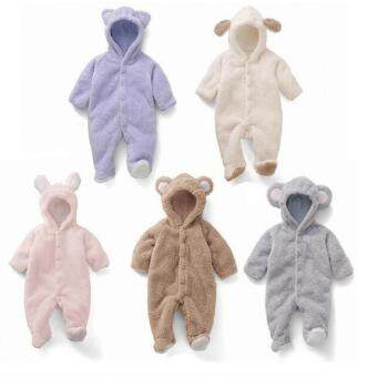 New Clothes Romper Hooded Jumpsuit Bodysuit Outfits for Baby Infant Boy Girl, Comfortable & Warm - 2