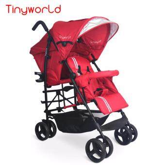 Harga New Tinyworld Twin Tandem Double Infant Compact Light WeightStroller Red- FREE Mama Bag