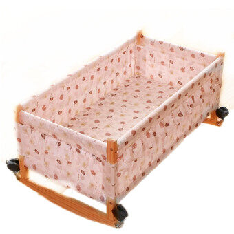 Newly LittleKids Baby Rocking Cradle TC128 - Yellow - 2
