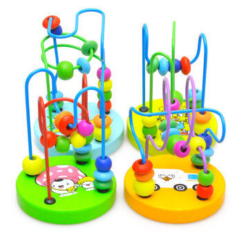 Non-toxic wooden bead toys for baby Taobao