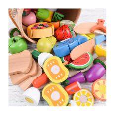 ohsem cutting vegetables toys fruit cutting game wooden toy food sets cooking toy