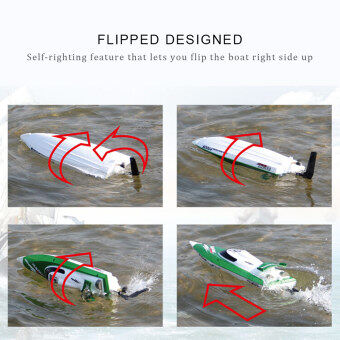 Original Feilun FT009 2.4G 30km/h High Speed RC Racing Boat withWater Cooling Self-righting System - 3