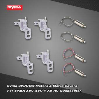 Original Syma Parts 2 Pairs Motor A B + 4pcs Motor Base Cover for SYMA X5C X5C-1 X5 RC Quadcopter