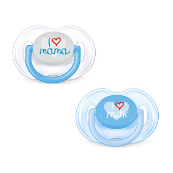 Harga Philips Avent Classic Pacifiers I love Mama 0-6m - (Blue) SCF172/50