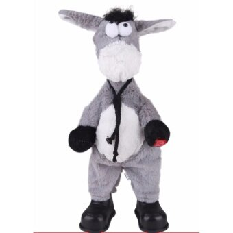Plush animals electric dancing donkey singing and dancing winging toys