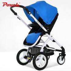 Pouch Baby Stroller 2 In 1 Folding Pram High Landscape Folding Baby Stroller