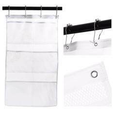 2 pack quick dry bathroom hanging 6 storage pockets bath accessories hanging mesh shower caddies for toys shower shampoo organizing with 4 hooks