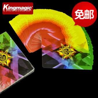 Harga Rainbow brand diamond four color brand ultra-thin to send stageempty-handed out of the card teaching magic props