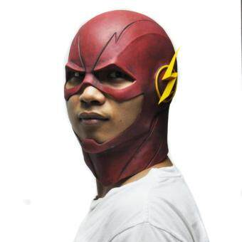 Harga Red The Flash Mask DC Movie Cosplay Costume Prop Halloween LatexParty Masks