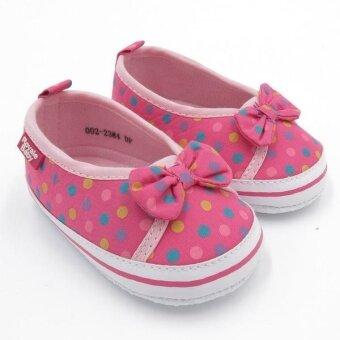 Royale Baby Booties Spotty (Dark Pink) 002-2384-DP