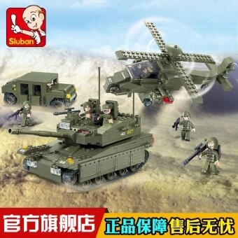 Small Lu Ban amphibious model assembled building blocks educationaltoys