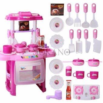 SOKANO Mini Kitchen Fun Playset With Full Utensils Set- Pink