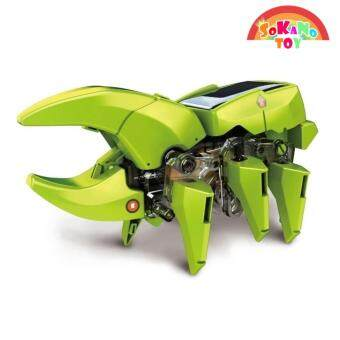 SOKANO TOY 4 In 1 Dinosaur Solar Power Educational Robot Kit DIY Toy - 4