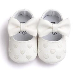 Toddler Girl Boy Shoes Infant Baby Bowknot Soft Sole Sneakers
