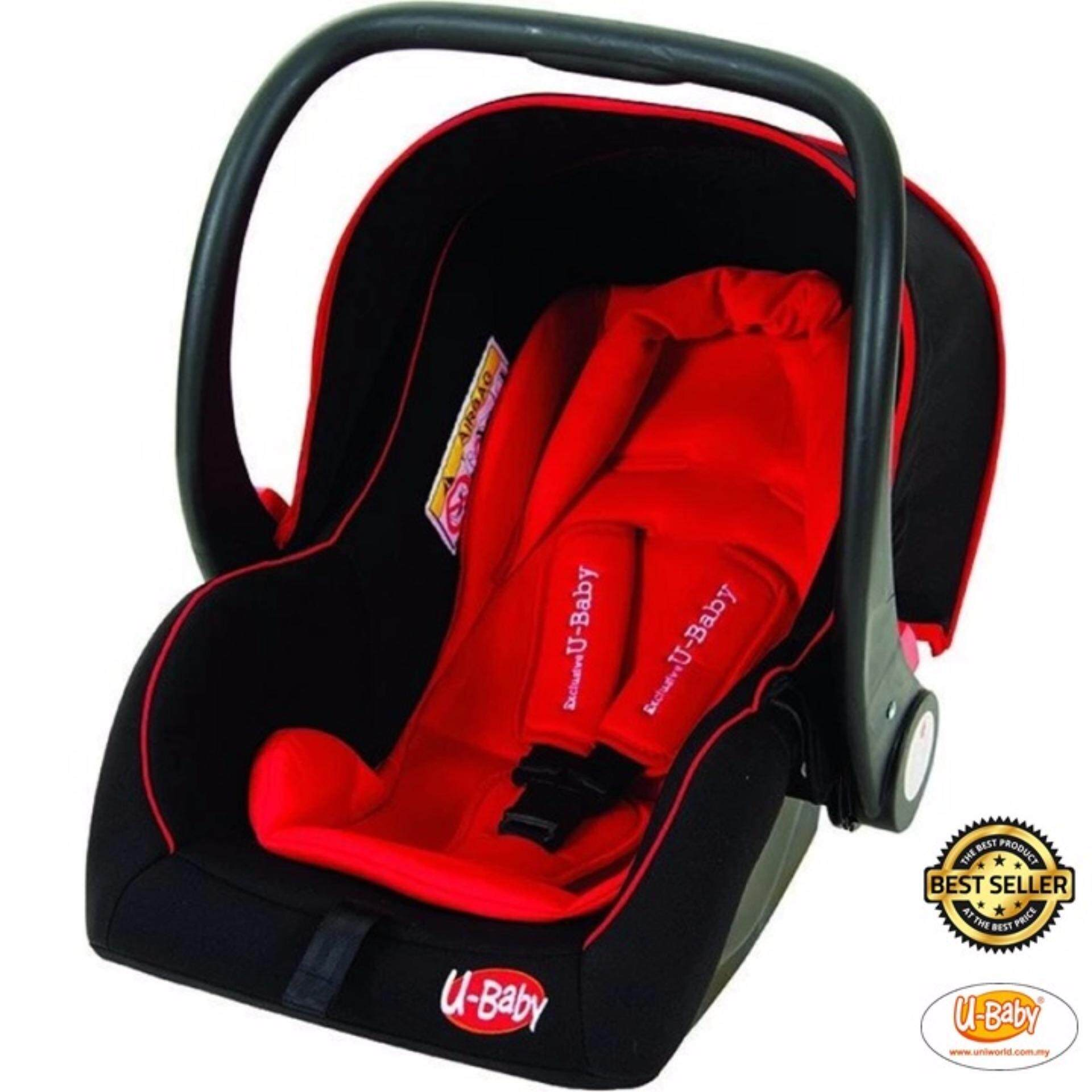ubaby csa baby carrier car seat (red)  lazada malaysia -