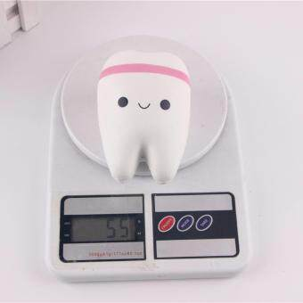 Upscale Jumbo Squishy Cute Adorable Teeth Soft Slow Rising JumboSqueeze Cell Phone Strap Pendant Toy Random Color