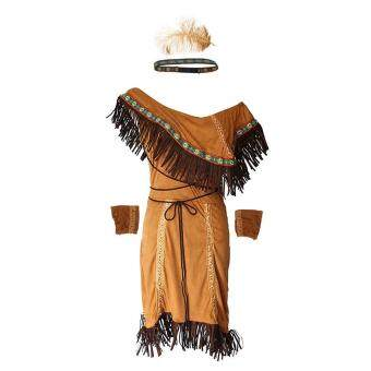 Woman Native American Indian Princess Fancy Dress Cosplay CostumeSuit M - 2