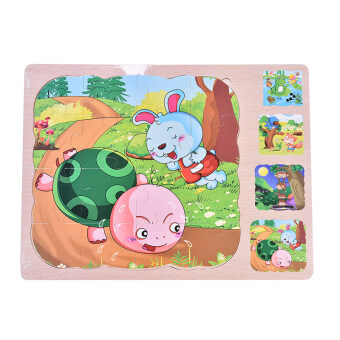 Wooden Multilayer Puzzles 3 layer Jigsaw Children Kids EducationalToys - 2