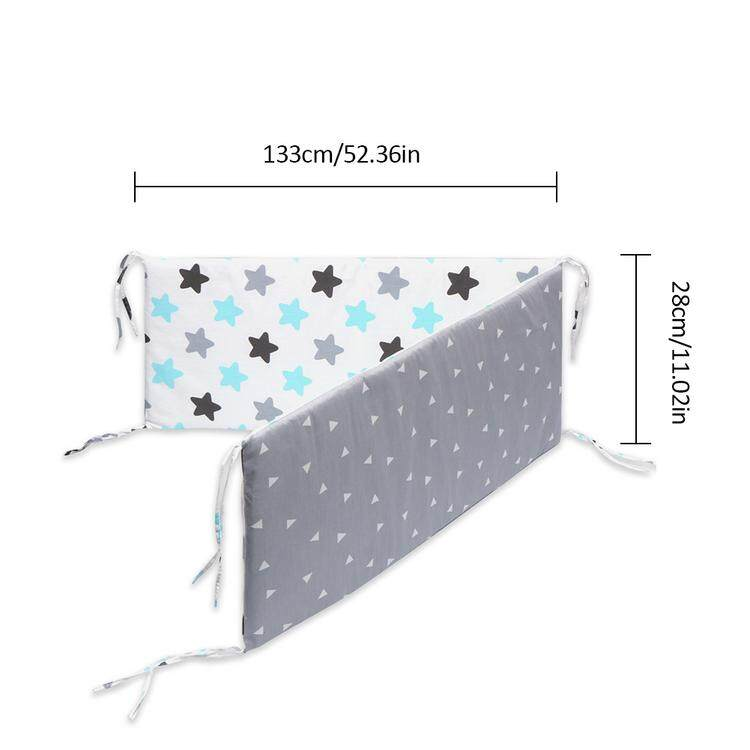 Crib Bumper,Cotton Breathable Crib Bumper Pads Washable Padded Crib Liner Set for Baby Boys Girls Safe Bumper Guards,133/×28/×2.5cm