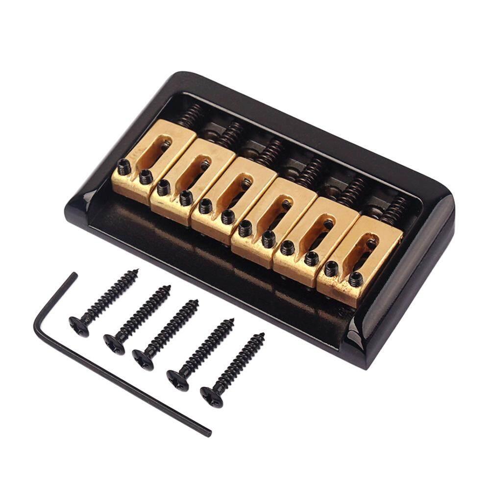 Hardtail Electric Guitar Bridge Saddle Chrome 6 String Non-tremolo Thru Body