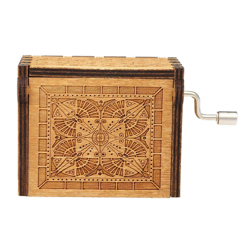 Vintage Wooden Theme Song Music Box Hand-operated Carved Engraving Music  Case Creative Holiday Birthday Gifts for Kids (THE LEGEND OF ZELDA)