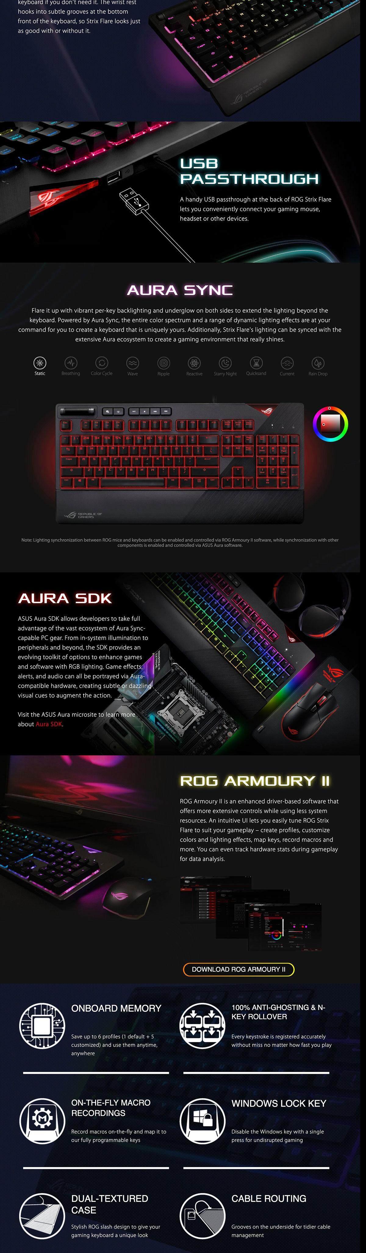 ASUS ROG Strix Flare Mechanical Gaming Keyboard with RGB