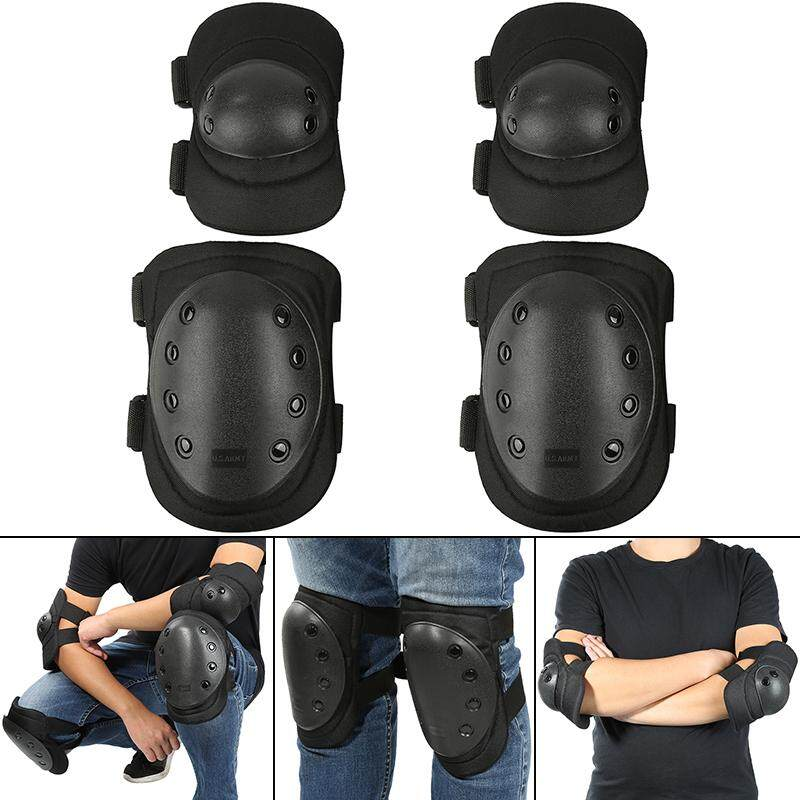 EASYGOING 4pcs Motorcycle Knee Protector Bicycle Kneeling Cycling Bike  Racing Tactical Skate Protective Knee Pads and Guard Elbow Pad