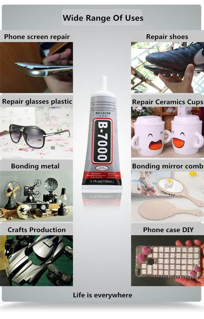 1 pc 15 ml Best B-7000 Multi Purpose Glue Adhesive Epoxy Resin Diy Crafts  Glass Touch Screen Cell Phone Super Glue B7000