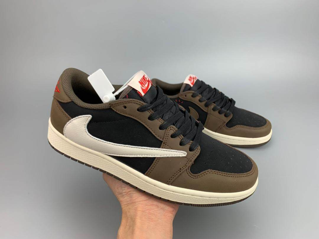 7f619e36b8 Nike Travis Scott x Air Jordan 1 Low Cut For Men Sports Running Shoes  Sneakers