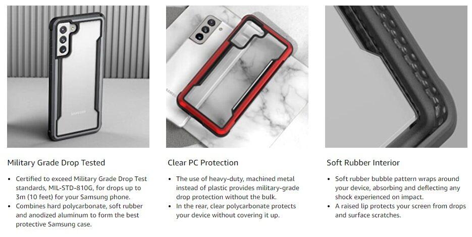 X-Doria Defense Shield Case for Samsung S21 Ultra 5
