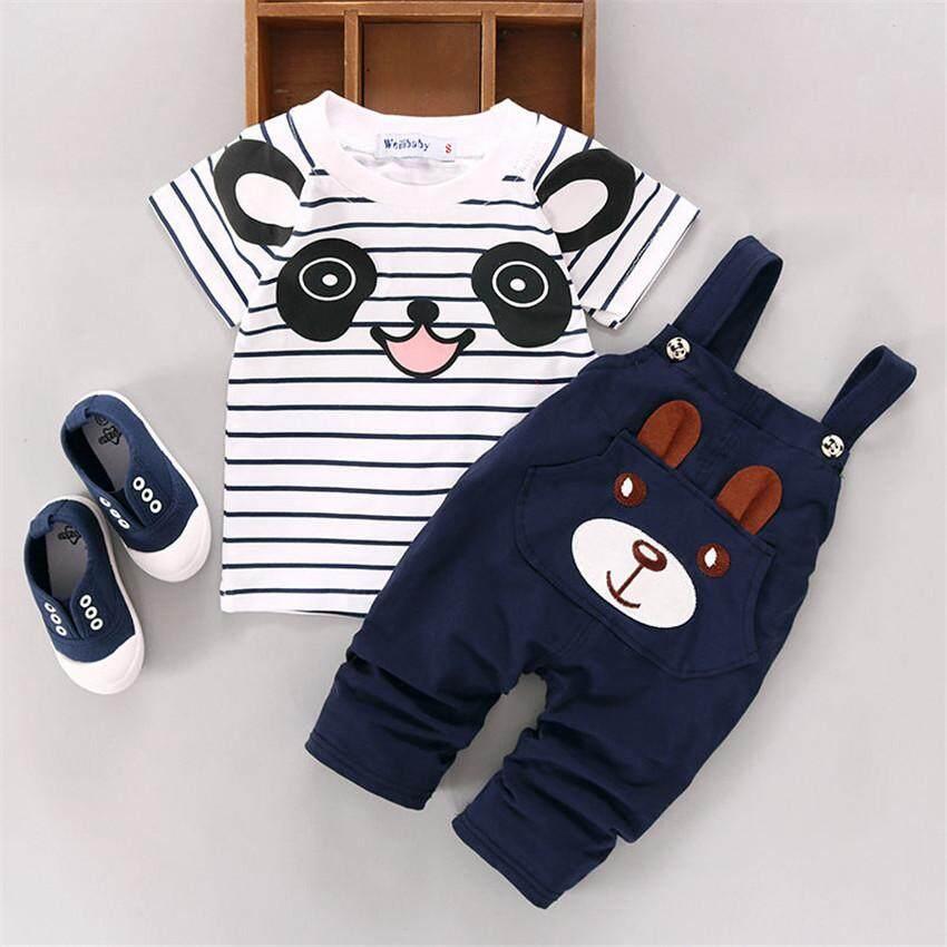 2PCS Newborn Toddler Kid Baby Boy Girl Clothes T-shirt Tops+Pants Outfits Set US