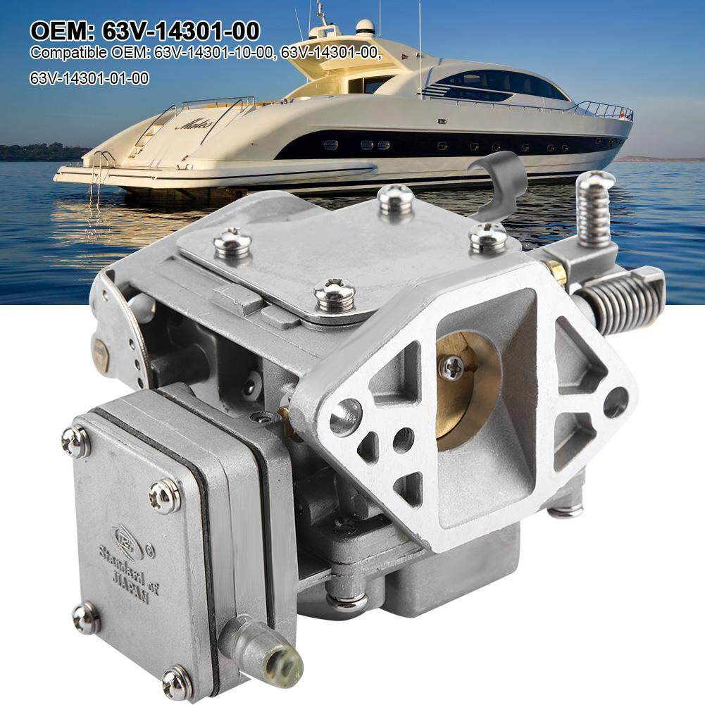 [Clearance Promotion]63V-14301-00 Carburetor Carb for Yamaha Marine  2-stroke 9 9hp 15hp Outboard Motors