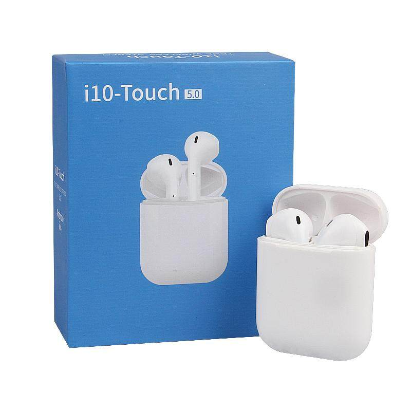 Bluetooth Earphone i10 TWS Touch Control Earbuds 3D Surround Sound &  Charging Case for All Smartphone